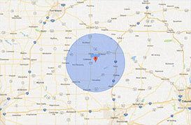 Chickasaw Map Radius